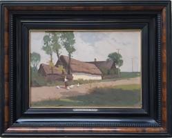 Endre Komáromi kacz (1880-1969) painting with original guarantee