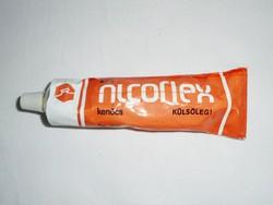 Retro ALCOFLEX kenőcs fém tubus - Reanal Finomvegyszergyár gyártó - 1980-as évekből