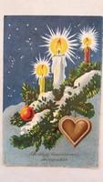 Régi karácsonyi képeslap mézeskalácsos