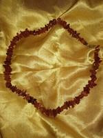 valódi borostyán nyaklánc, női ásvány ékszer, nem préselt