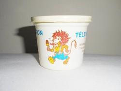 Retro műanyag doboz - Leo Vaniliás Jégkrém télen nyáron - Budatej gyártó - 1980-as évekből