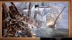Kakucsi-Csernák Zoltán: Trafalgar c. festménye