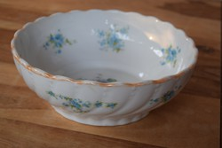 MZ Altrohlau porcelán tál nefelejcs virággal komatál