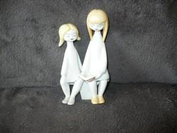 Hollóházi art deco olvasó lányok Ősz Szabó Antónia