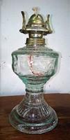 Csodás kanócos üveg lámpatest új, eladó! 20cm magas + a búra