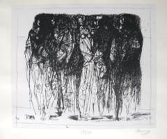 Barcsay Jenő (1900-1989): Nőalakok. Jelzett szitanyomat (68/100), üvegezett keretben