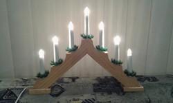 Karácsonyi gyertya piramis ablakdísz, 7 égős