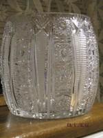 Fantasztikusan szép nagyméretű régi ólomkristály tál