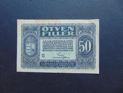 50 fillér 1920  13 sorszám