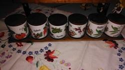 Gerold porcelán fűszertartó eredeti polcával együtt eladó