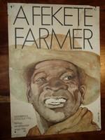 Karácsonyi ajándék ötlet! Antik filmplakát: A FEKETE FARMER