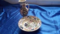 Korondi kerámia tányér és bokány Simó Ignác fazekas mester korondi  műhelyében idő megjelölés nélkül