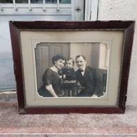Károlyi Aladár Szeged , nagyméretű keretezett családi fotó 65x75 cm