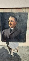 Antik festmény Csűrös Béla ( 1886 -        ) portré.