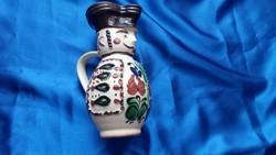 Korondi kerámia Miska kancsó Simon Antal keramikus mester művész műhelyéből 1955.  utáni évekből...