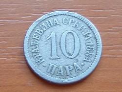 SZERBIA 10 PARA 1884  #