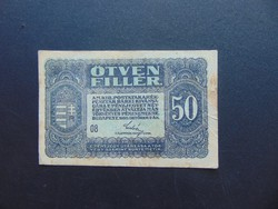 50 fillér 1920  08 sorszám