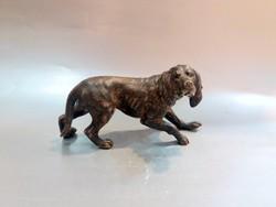 Antik Bécsi Bronz Kutya Vizsla