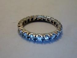 Gyönyörű  tele köves ezüstgyűrű