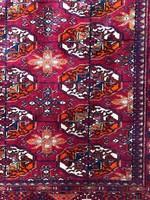 Félantik Kézicsomózású Türkmén Szőnyeg 200x300