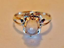 Szépséges kézműves  holdköves ezüstgyűrű