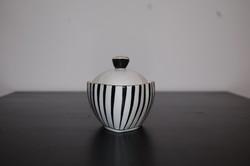 Hollóházi fekete fehér cukortartó/bonbonier