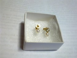 Gyöngyös arany fülbevaló