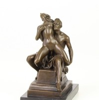 Erotikus bronzszobor -szeretkező pár