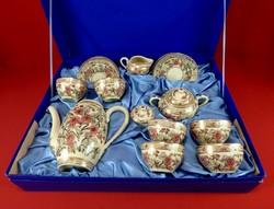 Zsolnay antik mokkás-készlet díszdobozban