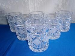 J_066 / 6 db vastag falú kristály pohár