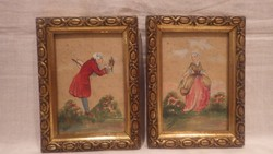 Varga romantikus festmény pár , úri pár