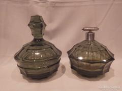 Antik üveg parfümszóró + ajándék