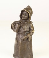 Bronz figurális csengő-szobor