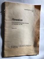 Utasítás a SED jelöltek Marxista-Leninista képzésére - 1972-es német nyelvű propaganda füzet