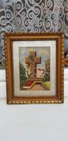 Régi Goblein Kép 23x28cm.