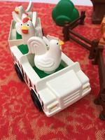 Lego Duplo 6312 csomag - autó - farm - tyúk - állatok - kutya - cica - cowboy