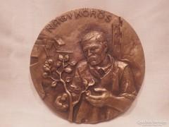 Nagykőrös A Városért bronz plakett
