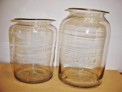 2 db. antik hutaüveg