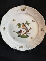 RO-8 Herendi Rothschild lapos tányér, hibátlan állapotban