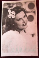KARÁDY KATALIN SZÍNÉSZNŐ SZÍNMŰVÉSZ AUTOGRÁF ALÁÍRT - DEDIKÁLT FÉNYKÉP FOTÓ GYŰJTŐI KÉPESLAP 1944