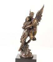 Cupid és Psyche bronzszobor