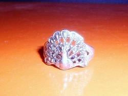 Páva régi Tibeti ezüst gyűrű 7-es és 8-as