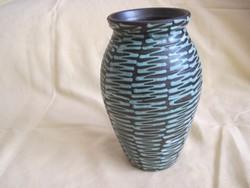 Jelzett Lénárt kerámia váza 21 cm hibátlan