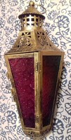 Réz, mécsestartó lámpa,Gyönyörű!  40 cm