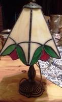 Antik Tiffani asztali lámpa 35 cm magas