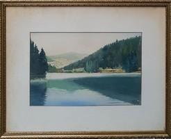 Tichy Kálmán (1888-1968) Uhornai tó Eredeti Garanciával