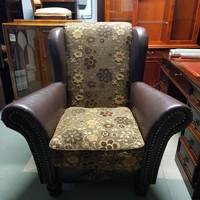 Füles fotel /Bőr --textil kombináció/
