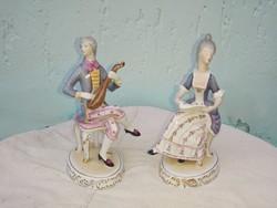 Hollóházi barok zenész pár.