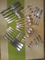 Ezüst evőeszköz készlet hat személyes
