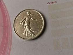 1963 ezüst 5 frank 12 gramm 0,835